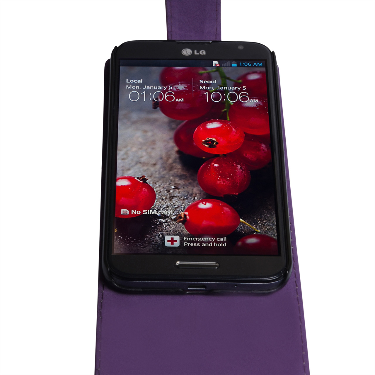 YouSave Accessories LG G Pro Leather Effect Flip Case - Purple