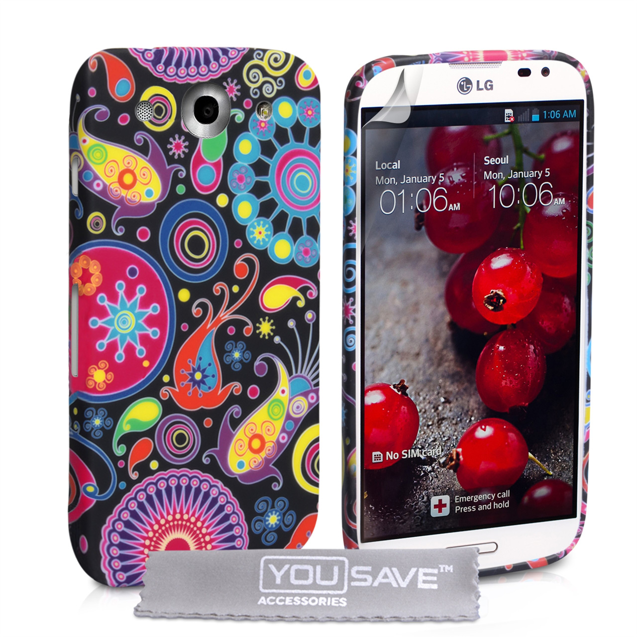 YouSave Accessories LG G Pro Jellyfish Silicone Gel Case
