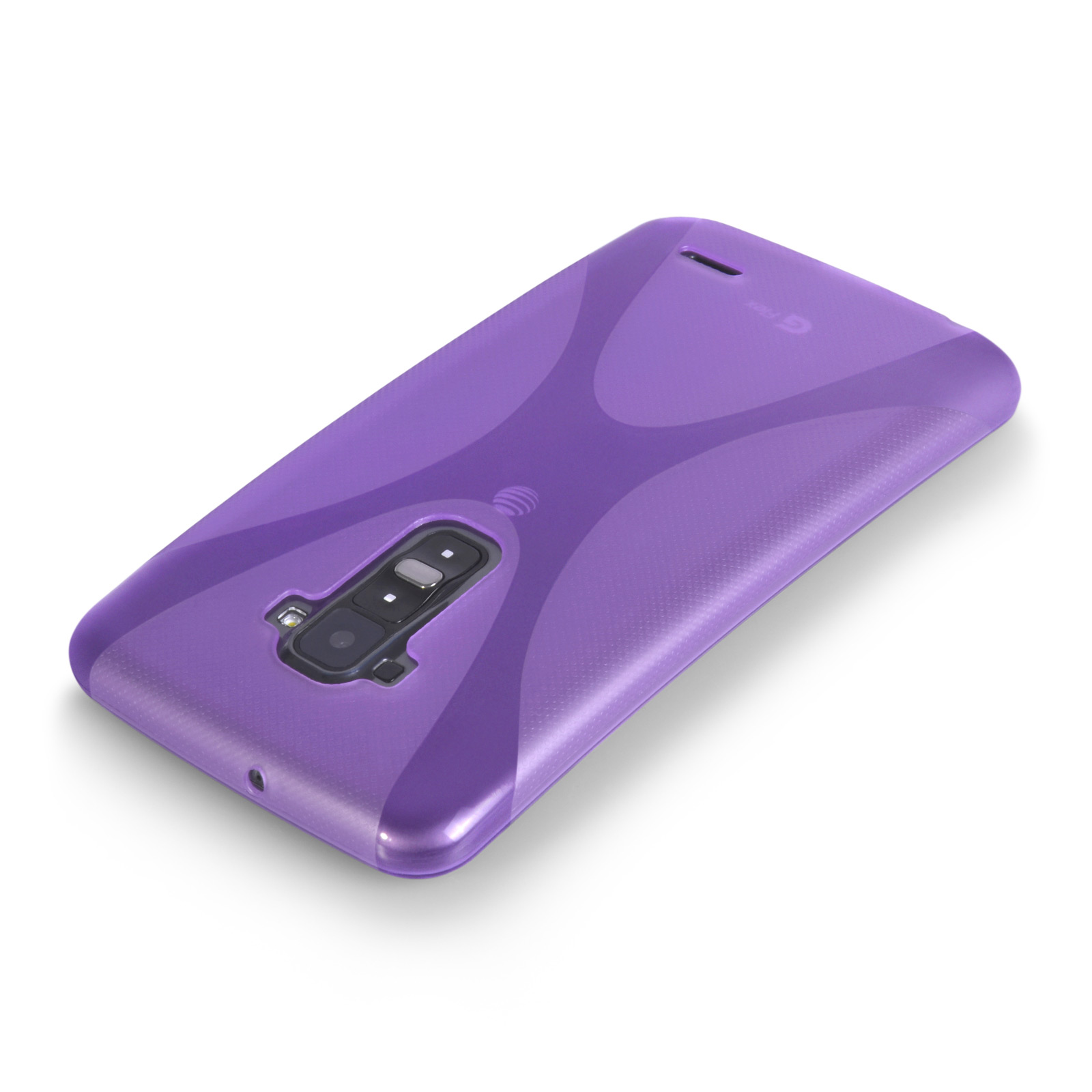 YouSave Accessories LG G Flex Silicone Gel X-Line Case - Purple