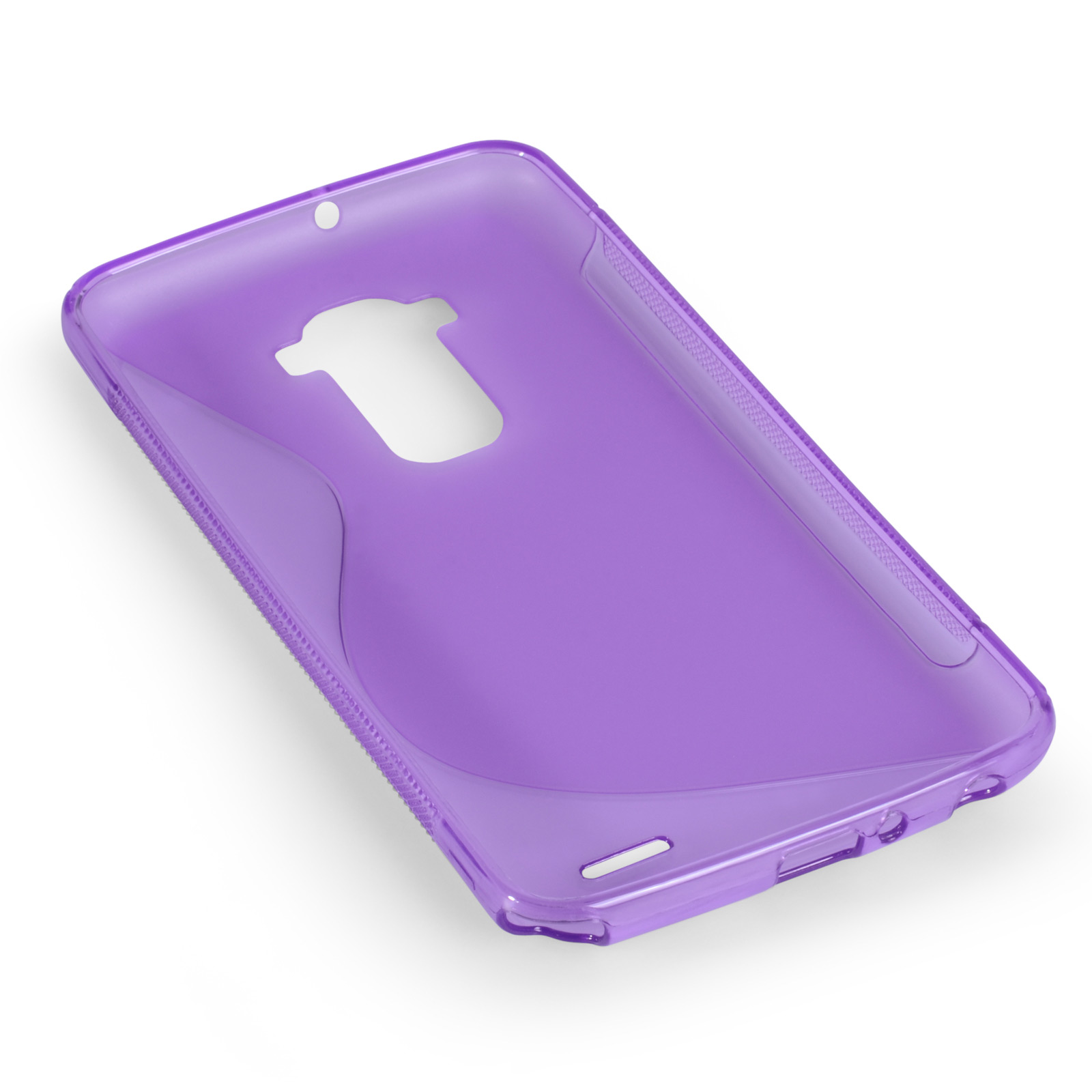 Caseflex LG G Flex Silicone Gel S-Line Case - Purple