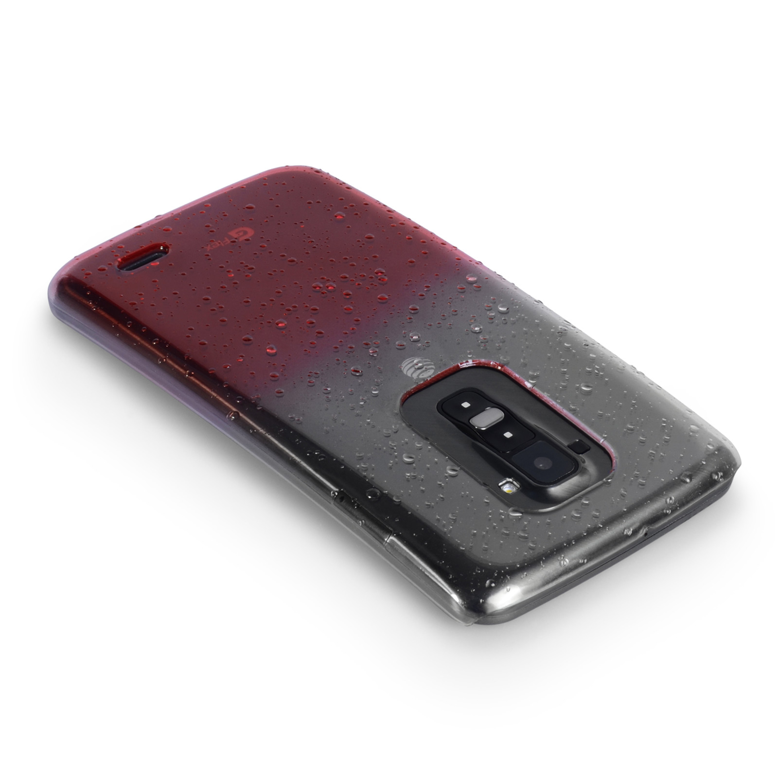 YouSave Accessories LG G Flex Raindrop Hard Case - Red-Clear