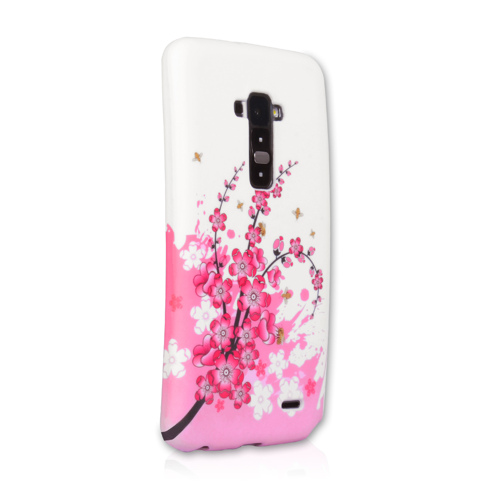 YouSave Accessories LG G Flex Floral Bee Silicone Gel Case