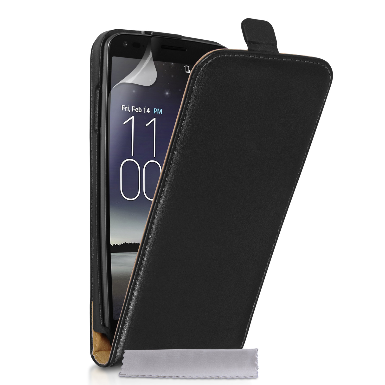 Caseflex LG G Flex Real Leather Flip Case - Black