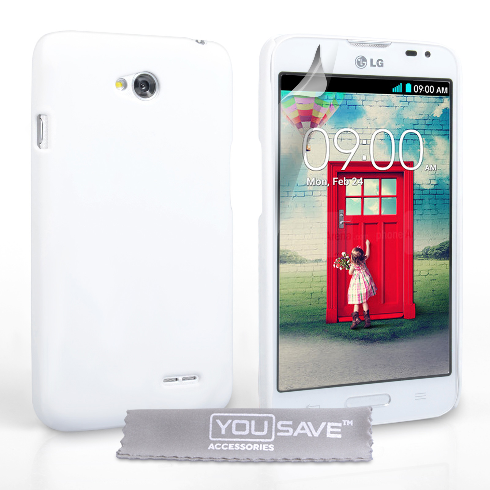 YouSave Accessories LG L70 Hard Hybrid Case - White