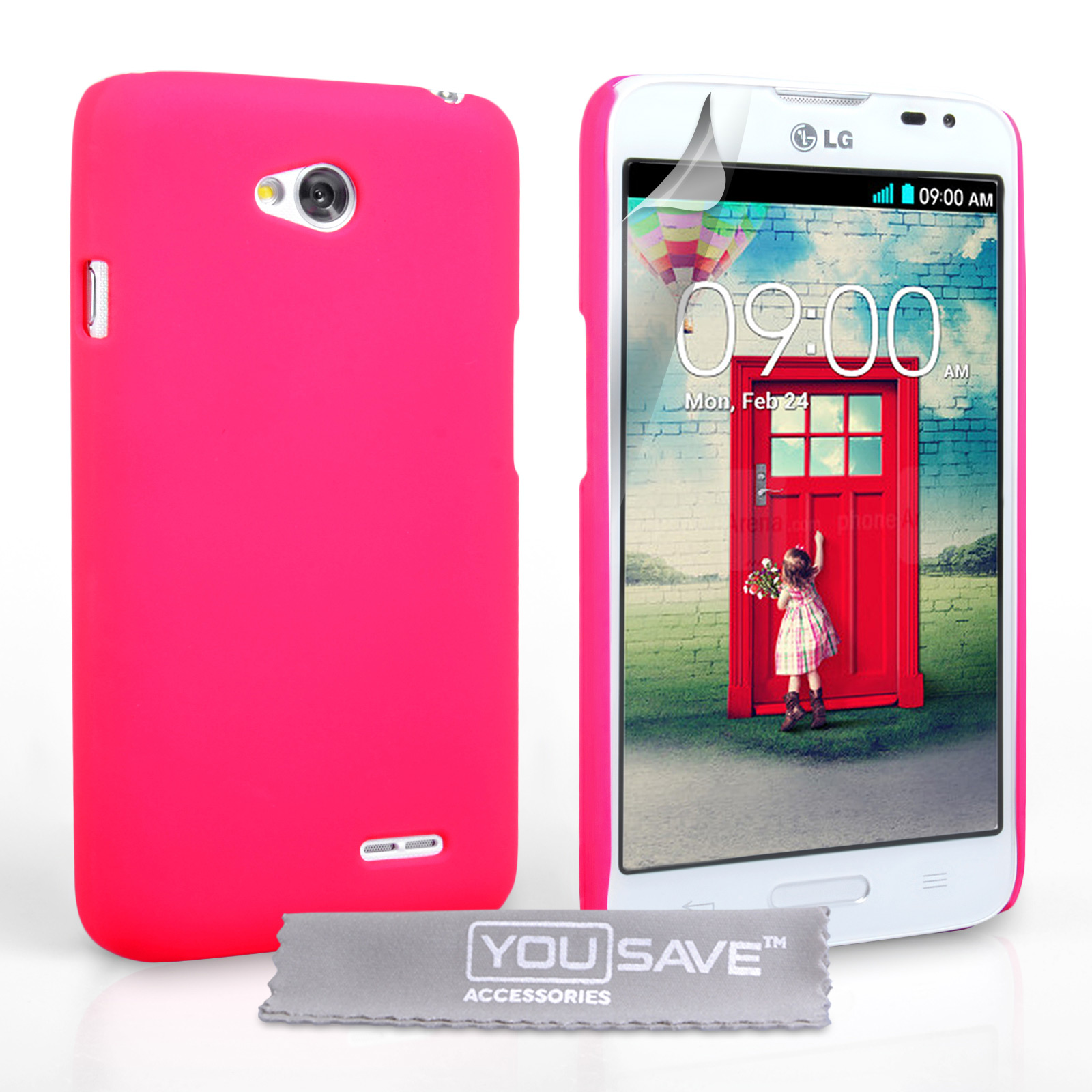 YouSave Accessories LG L90 Hard Hybrid Case - Hot Pink