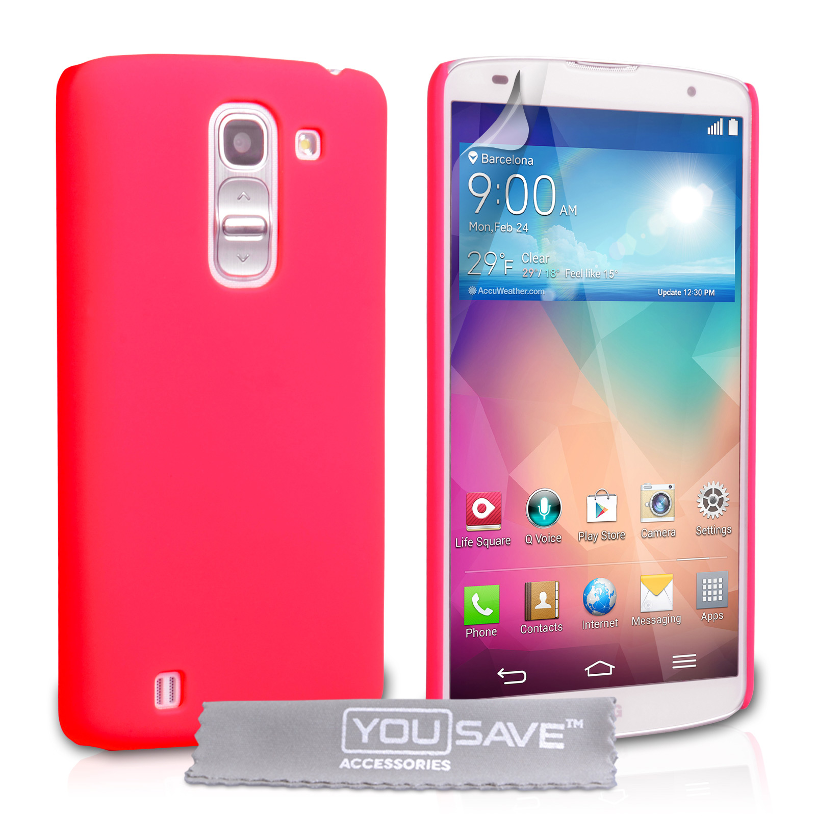 YouSave Accessories LG G Pro 2 Hard Hybrid Case - Hot Pink