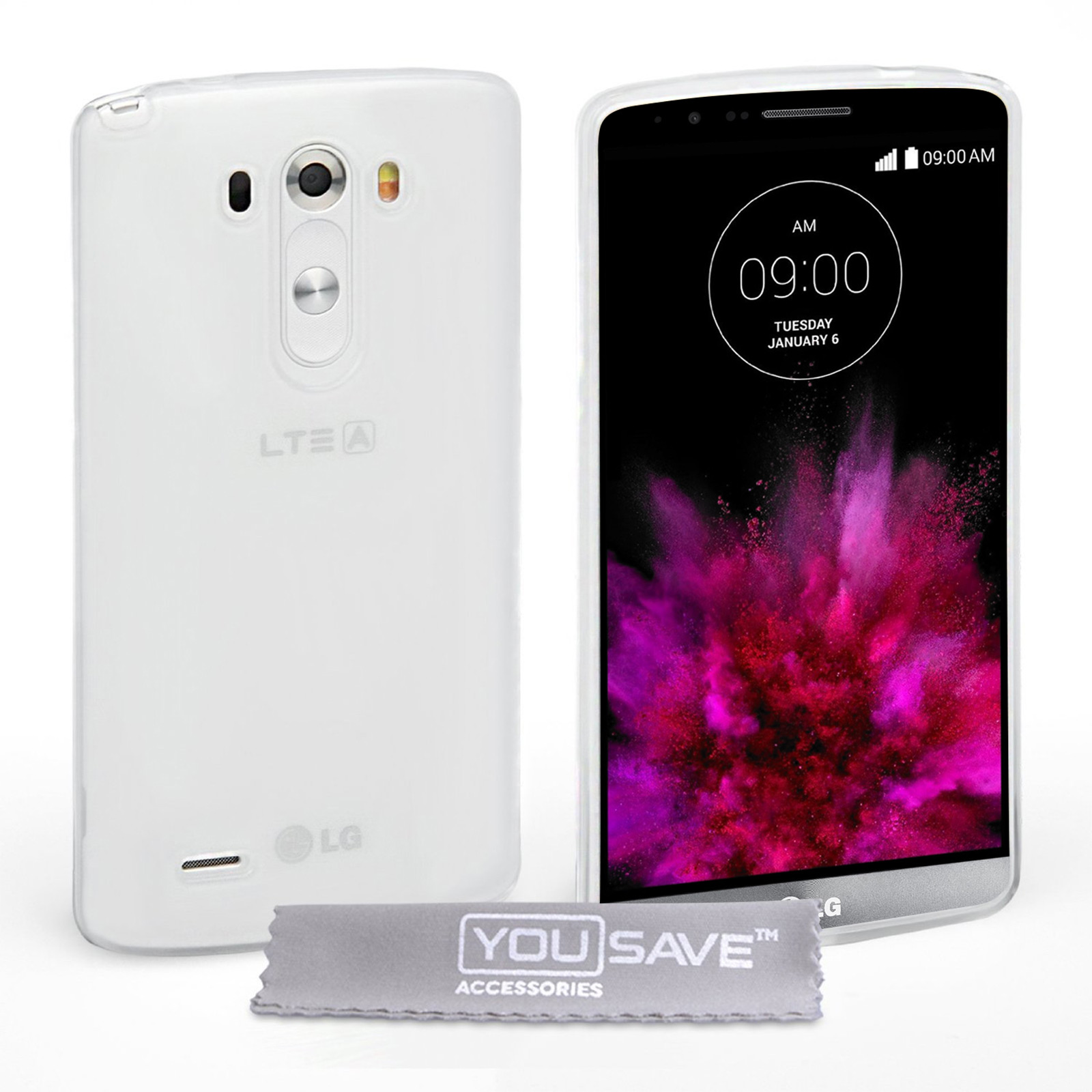 YouSave Accessories LG G4 Silicone Gel Case - Clear
