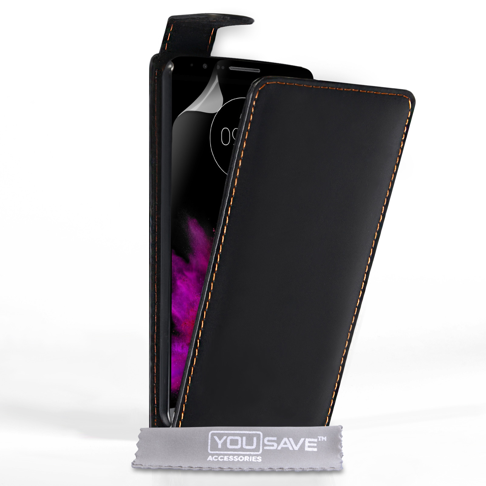 YouSave Accessories LG G4 Leather-Effect Wallet Case - Black
