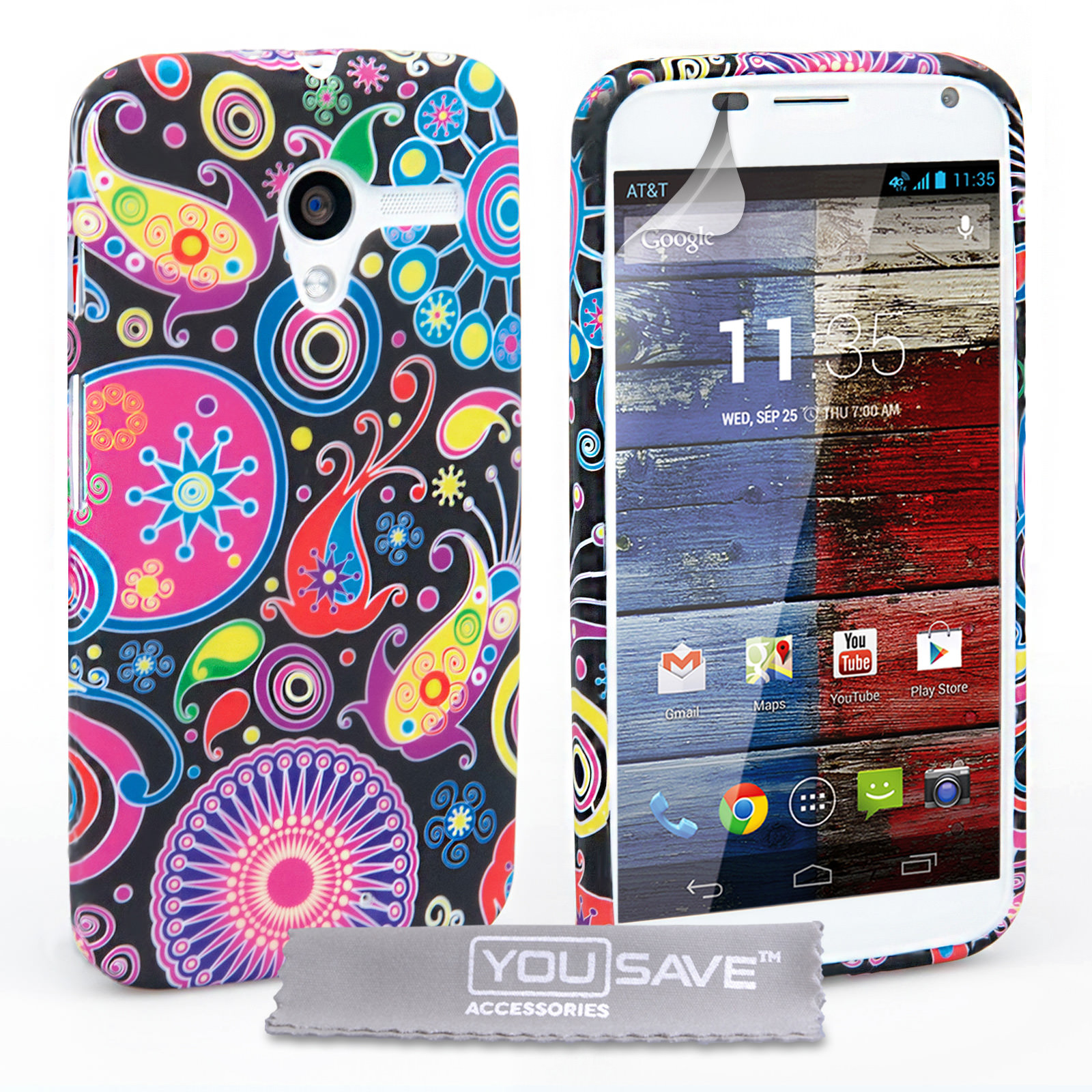 YouSave Accessories Motorola Moto X Jellyfish Silicone Gel Case
