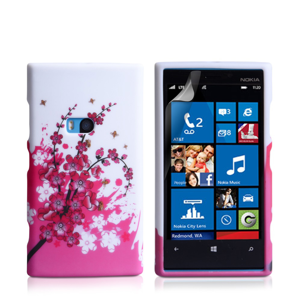 yousave nokia lumia 920 floral bee silicone gel case. Black Bedroom Furniture Sets. Home Design Ideas