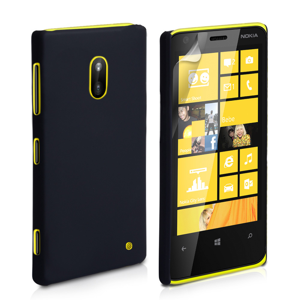 YouSave Accessories Nokia Lumia 620 Hard Hybrid Case - Black