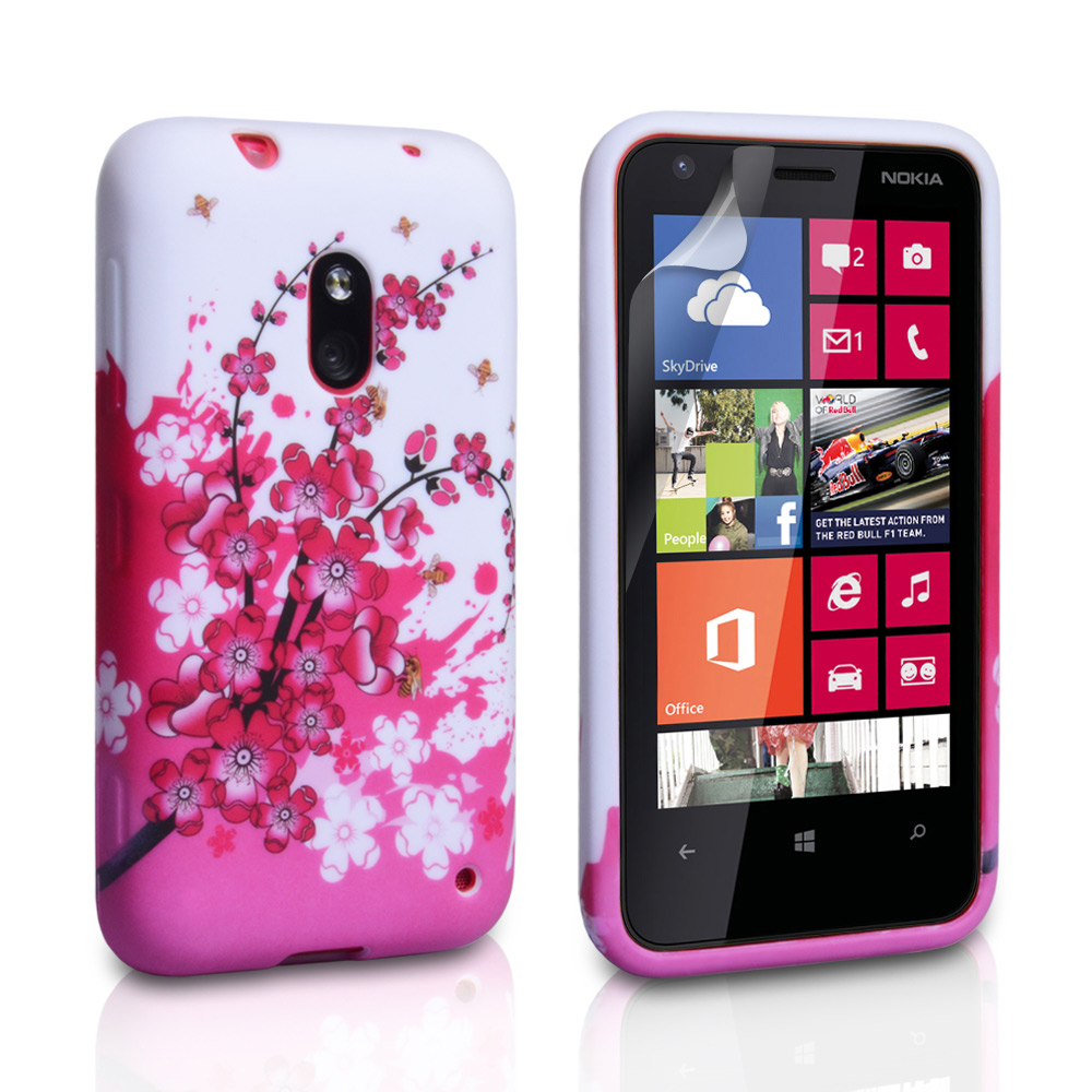 YouSave Accessories Nokia Lumia 620 Floral Bee Silicone Gel Case