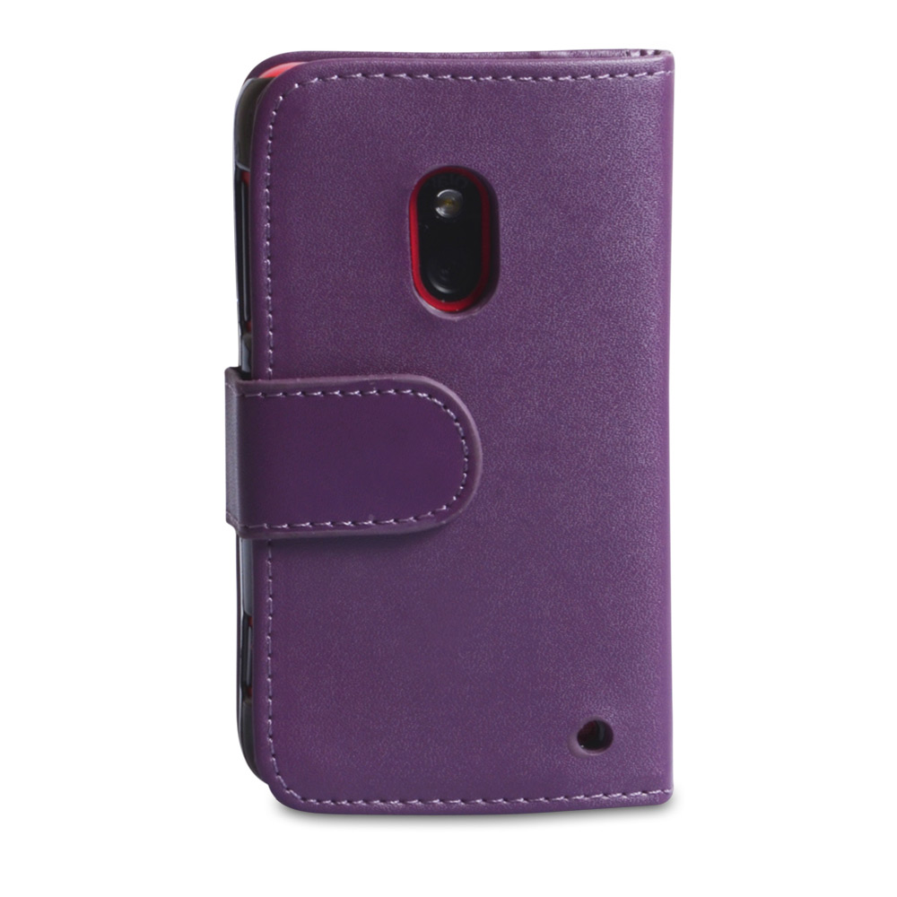 YouSave Accessories Nokia Lumia 620 Purple Leather Effect Wallet Case