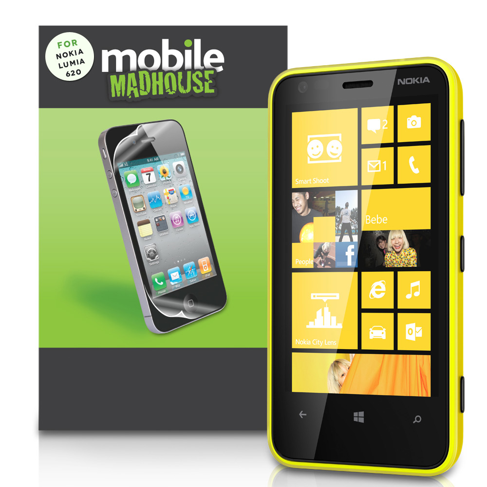 YouSave Accessories Nokia Lumia 620 Screen Protectors x3