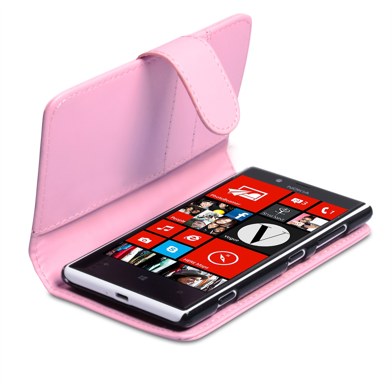 YouSave Nokia Lumia 720 Leather Effect Wallet Case - Baby Pink