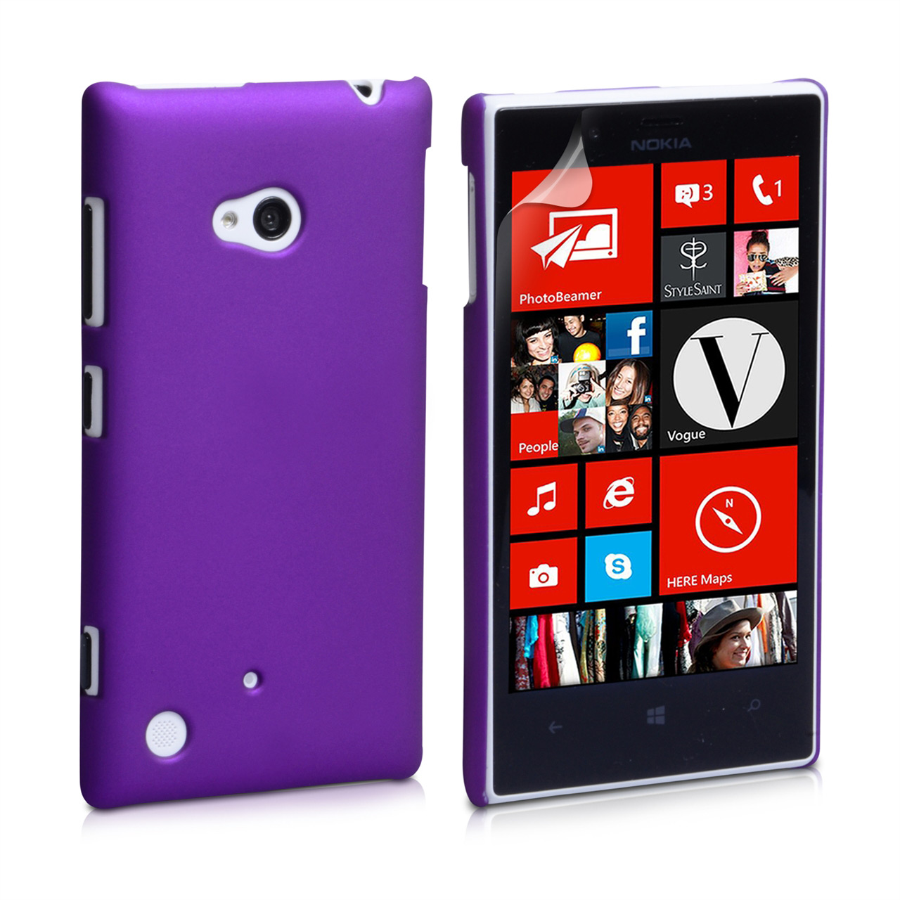 YouSave Accessories Nokia Lumia 720 Hard Hybrid Case - Purple