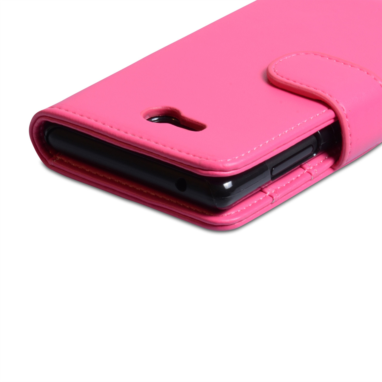 YouSave Nokia Lumia 820 Leather Effect Wallet Case - Hot Pink