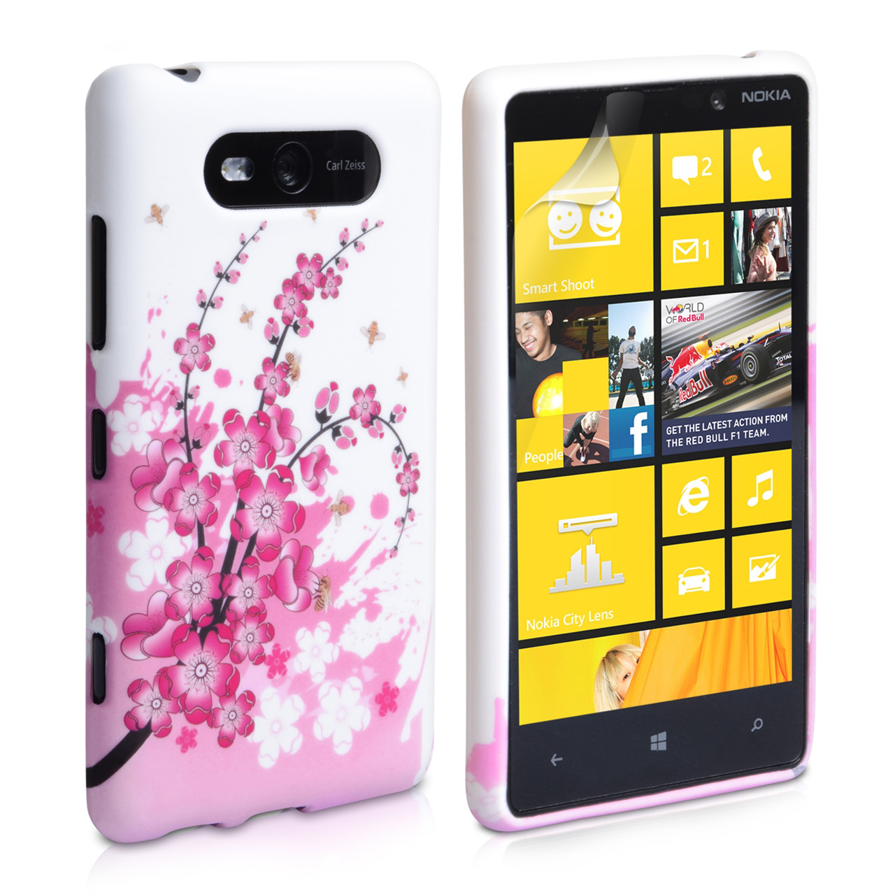 YouSave Accessories Nokia Lumia 820 Floral Bee Silicone Gel Case
