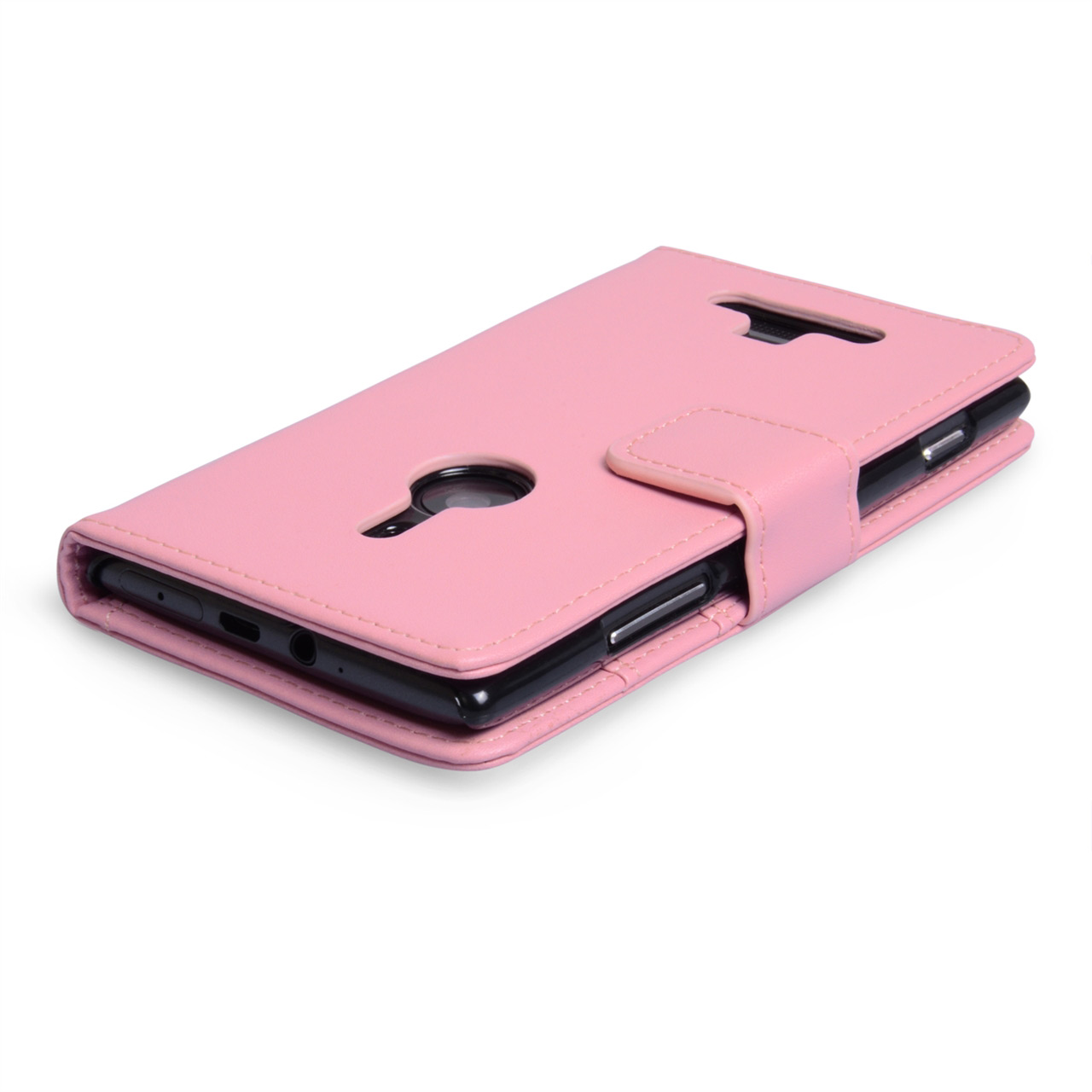 YouSave Accessories Nokia Lumia 925 Leather Effect Wallet Case - Pink