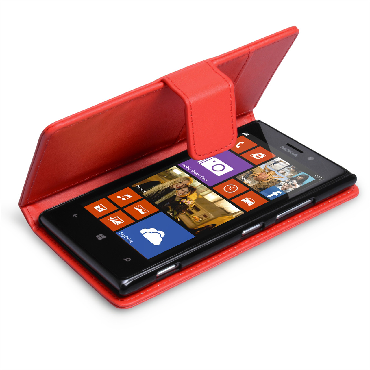 YouSave Accessories Nokia Lumia 925 Leather Effect Wallet Case - Red