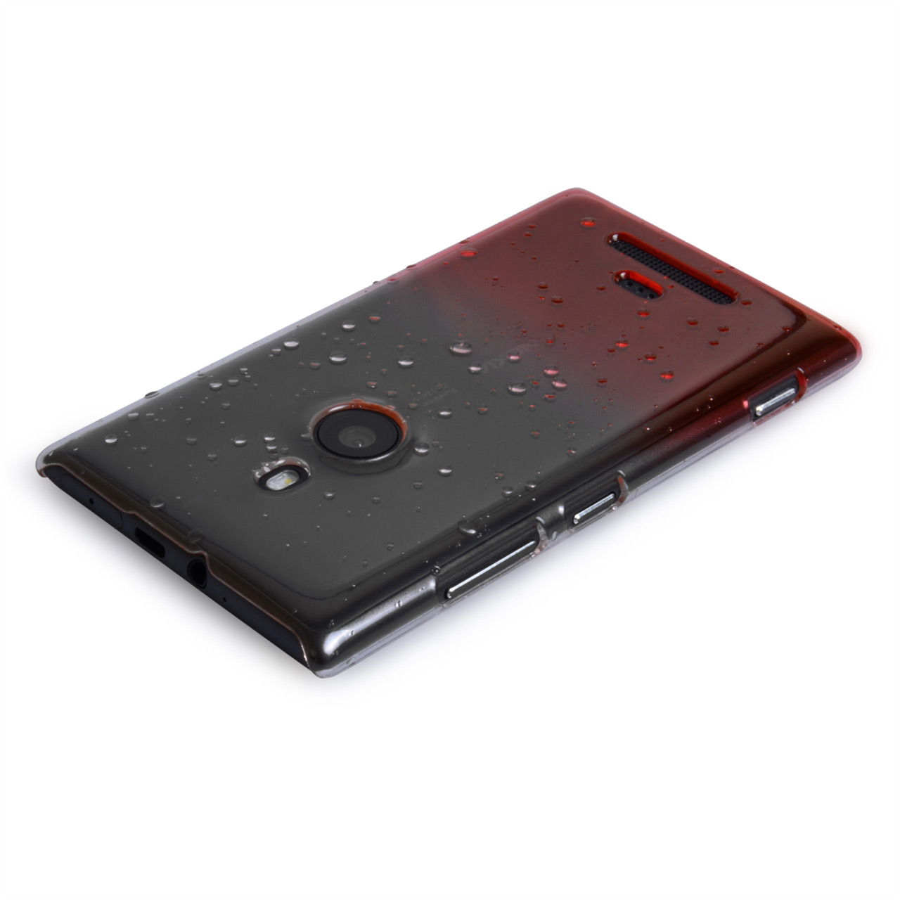 YouSave Accessories Nokia Lumia 925 Raindrop Hard Case - Red
