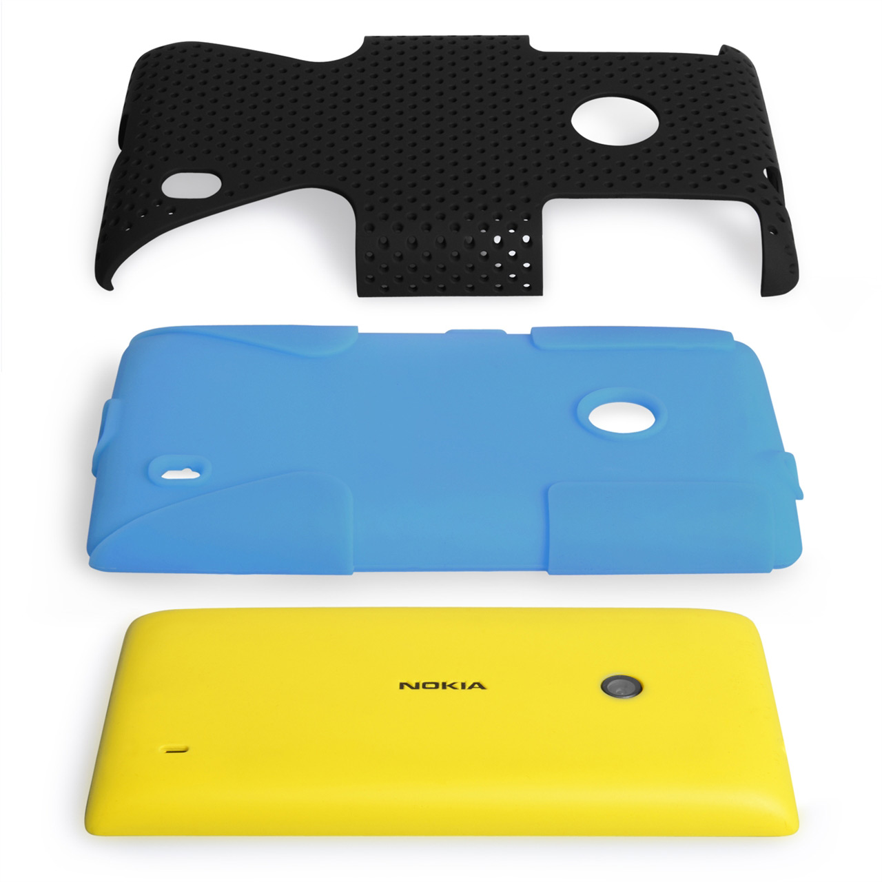 YouSave Accessories Nokia Lumia 520 Mesh Hard Case - Blue