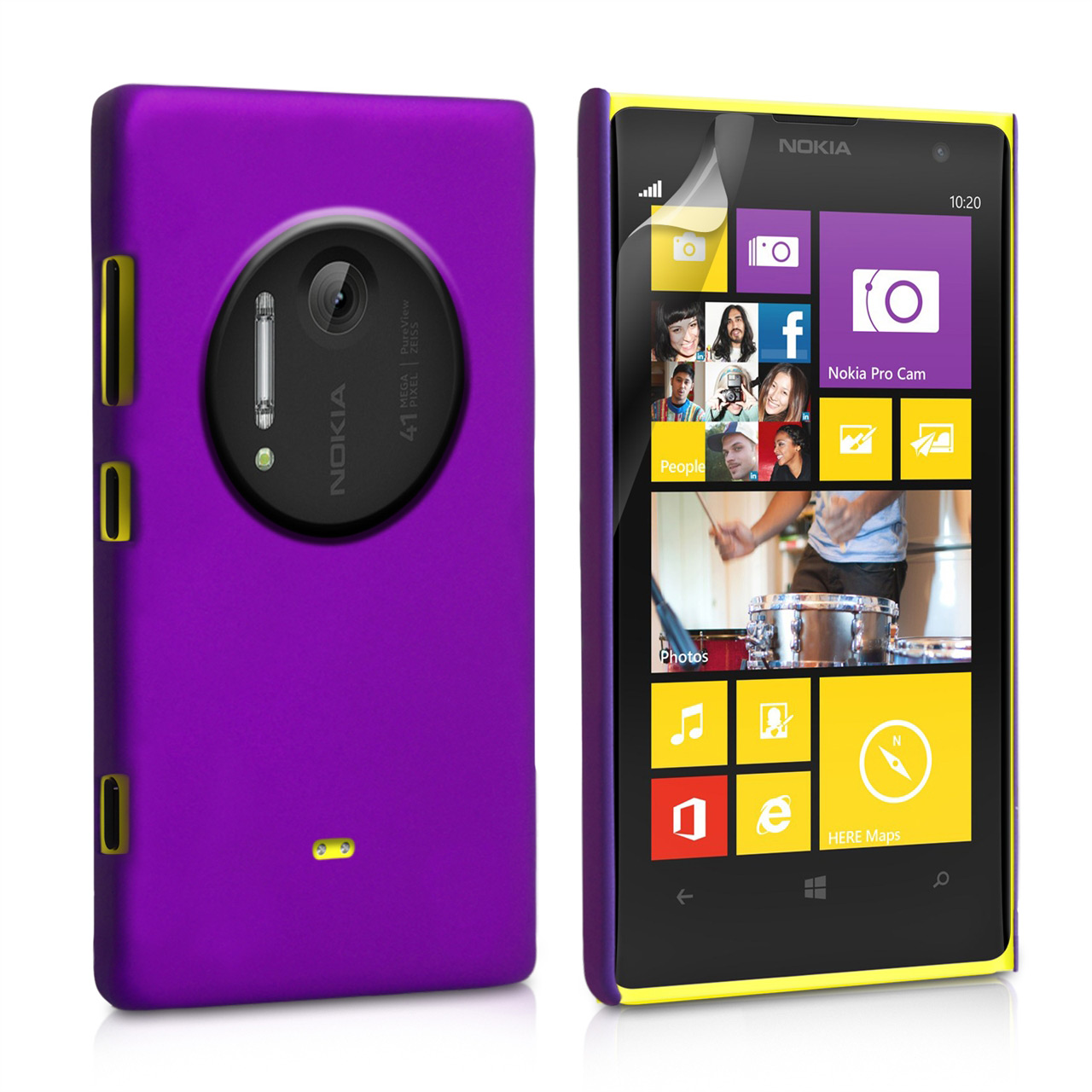 YouSave Accessories Nokia Lumia 1020 Hard Hybrid Case - Purple