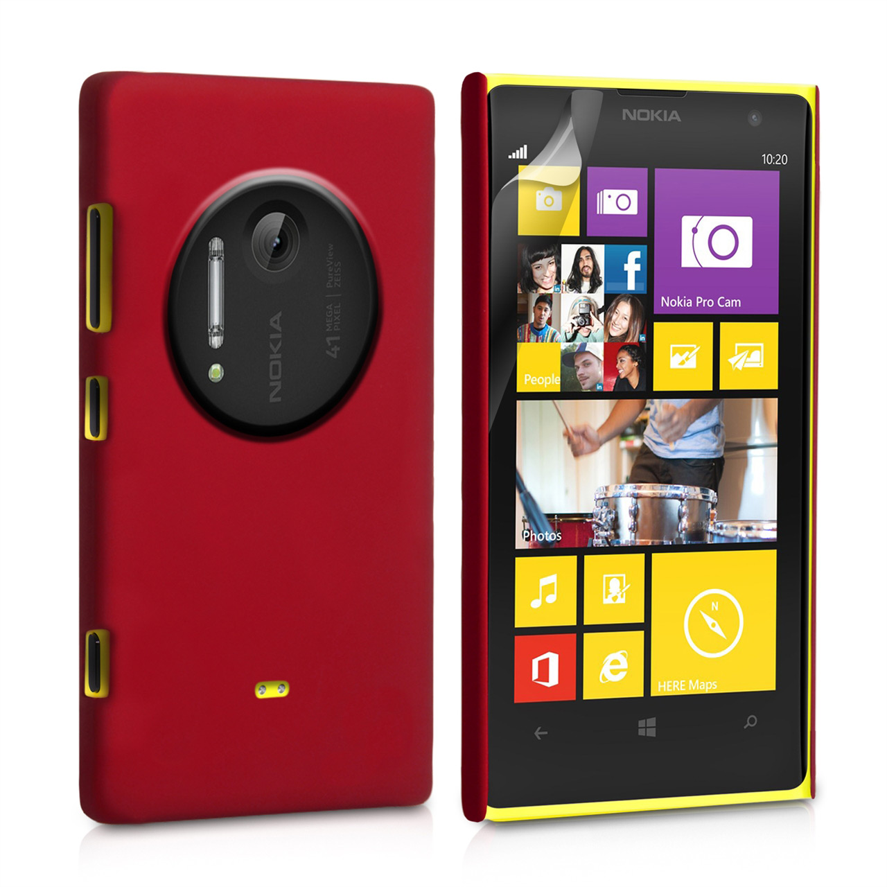 YouSave Accessories Nokia Lumia 1020 Hard Hybrid Case - Red