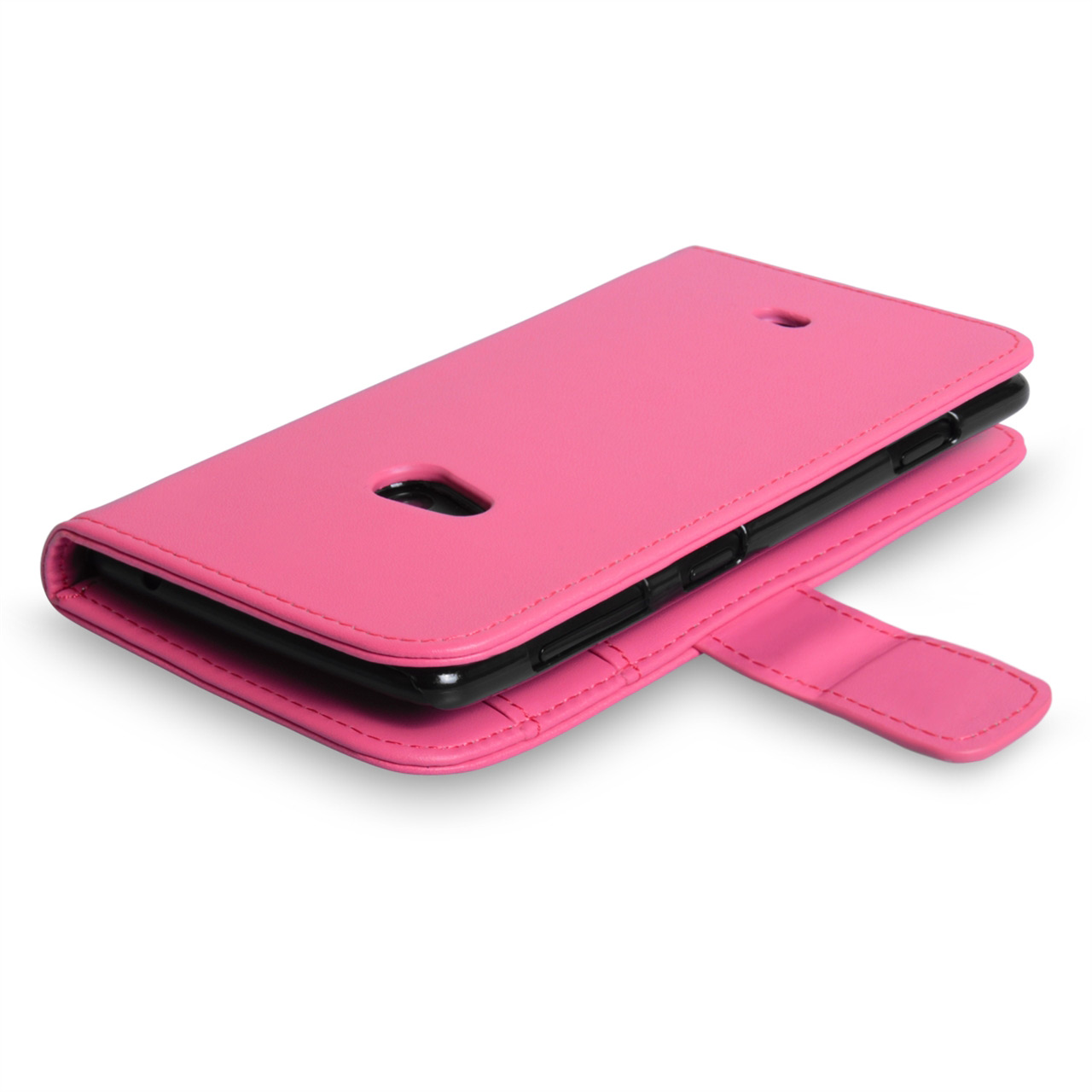 YouSave Nokia Lumia 625 Leather Effect Wallet Case - Baby Pink