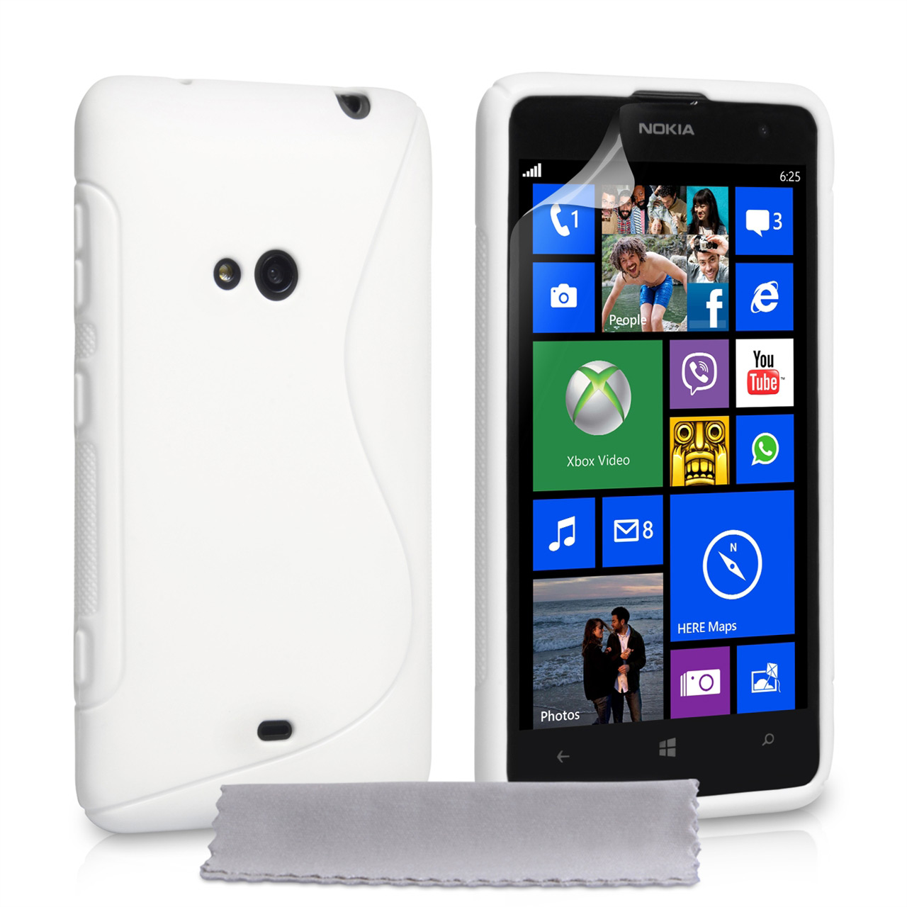 YouSave Accessories Nokia Lumia 625 S-Line Gel Case - White