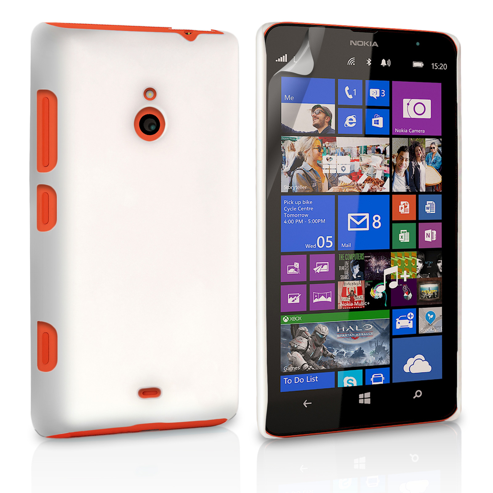 release date c9984 91c56 Yousave Accessories Nokia Lumia 1320 Hard Hybrid Case - White