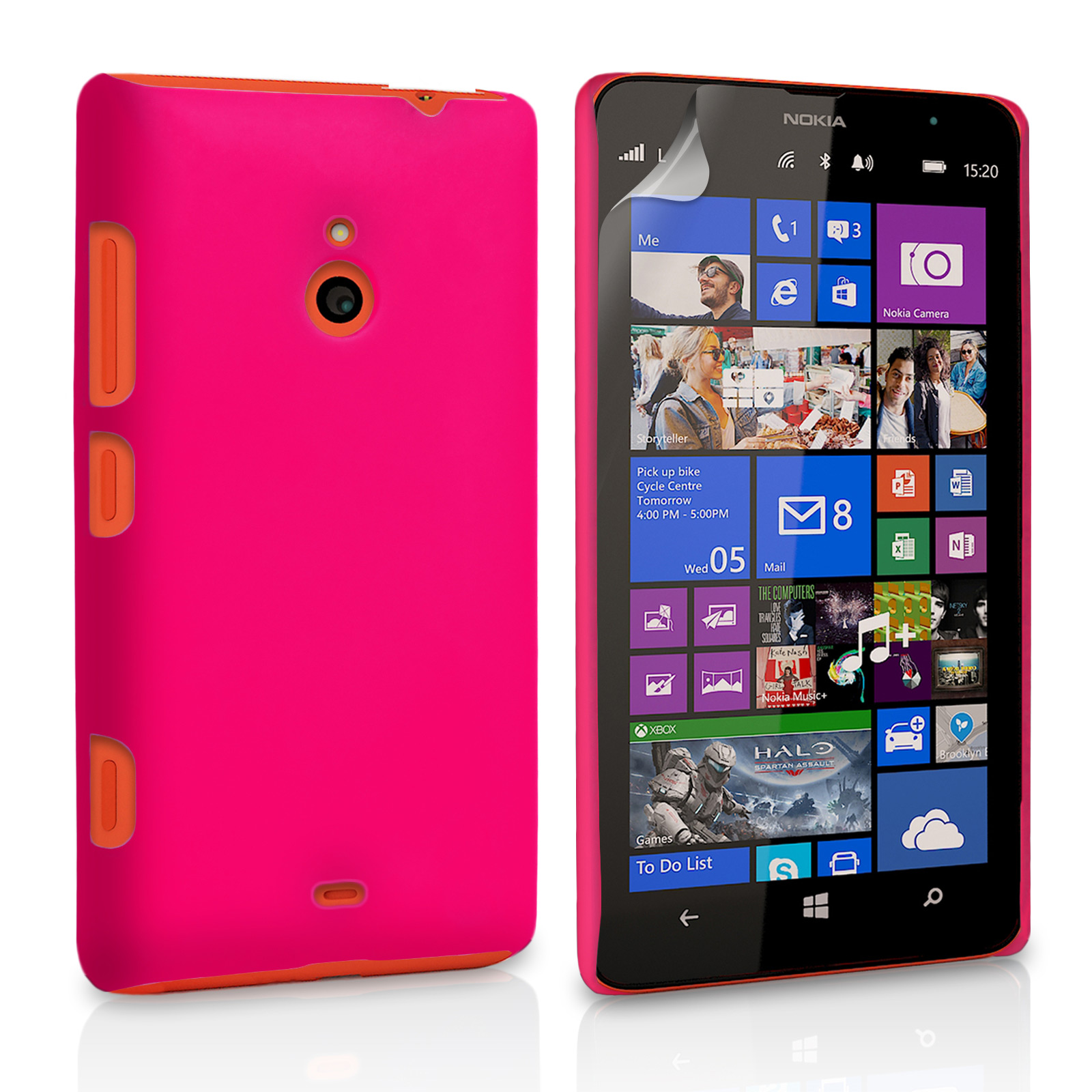 YouSave Accessories Nokia Lumia 1320 Hard Hybrid Case - Hot Pink