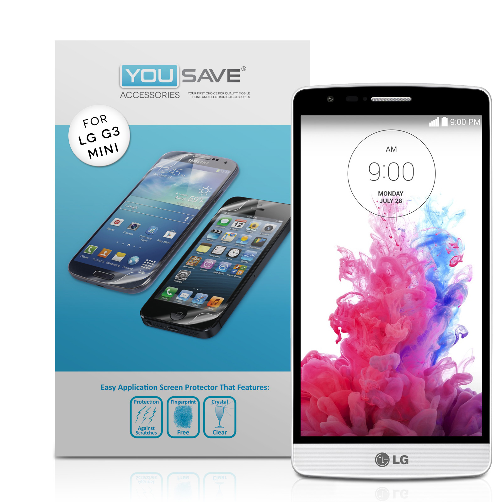 YouSave LG G3 S Screen Protectors x3