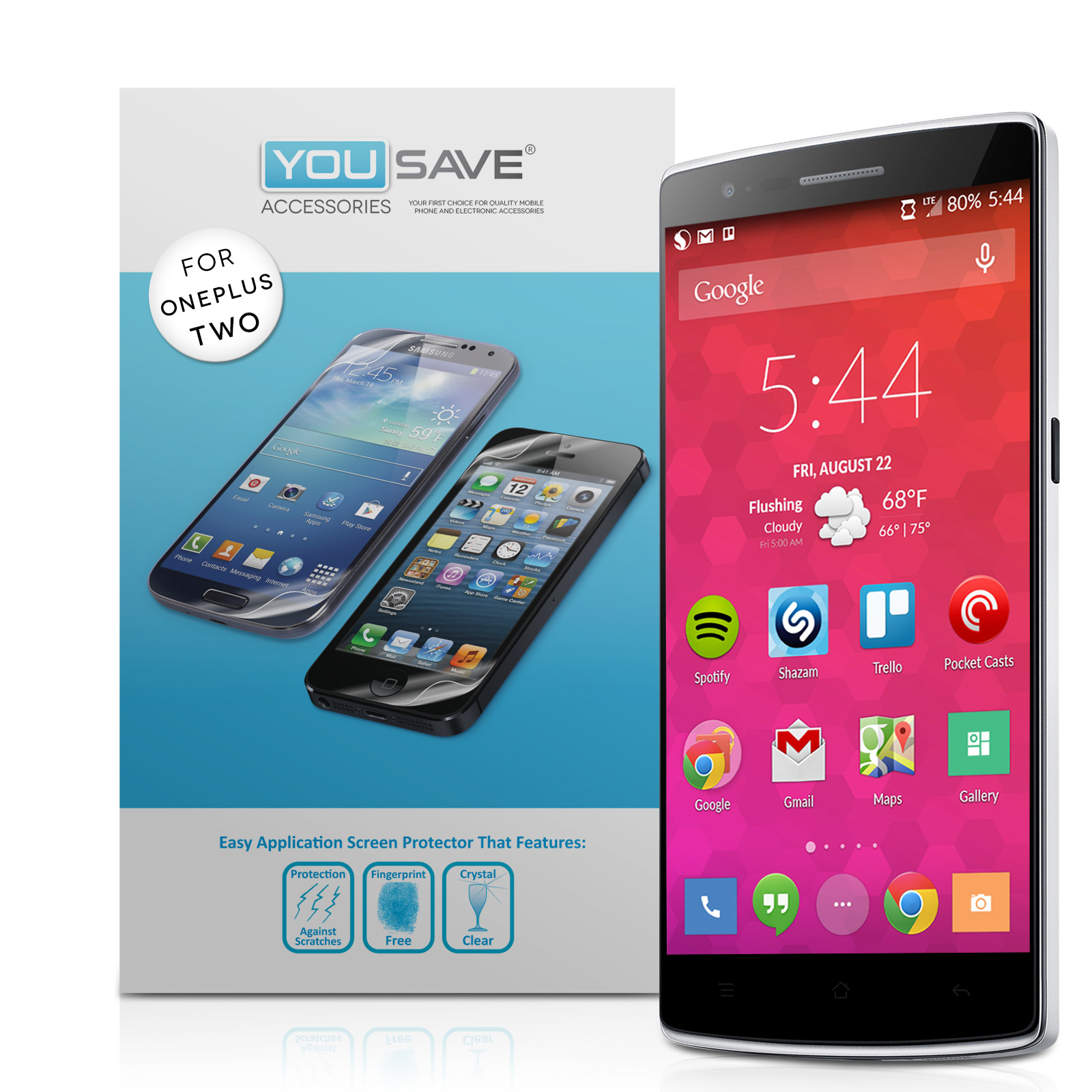 YouSave Accessories OnePlus Two Screen Protectors x3
