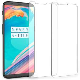 Caseflex OnePlus 5T Tempered Glass Screen Protector (Twin Pack)