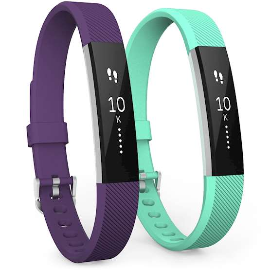 Fitbit Alta Strap 2-Pack (Large) - Plum / Mint Green