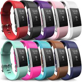 Fitbit Charge 2 Strap 10-Pack - Large