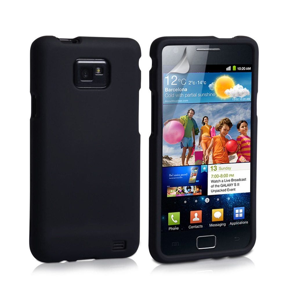 YouSave Accessories Samsung Galaxy S2 Black Hybrid Full Hard Case