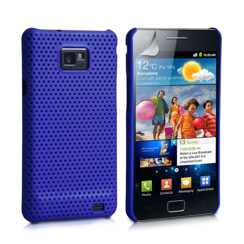 YouSave Accessories Samsung Galaxy S2 i9100 Blue Mesh Case