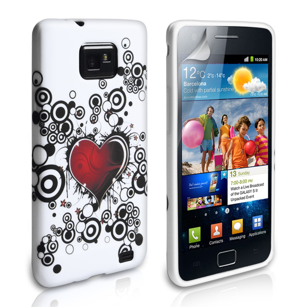 YouSave Accessories Samsung Galaxy S2 i9100 Love Heart Gel Case