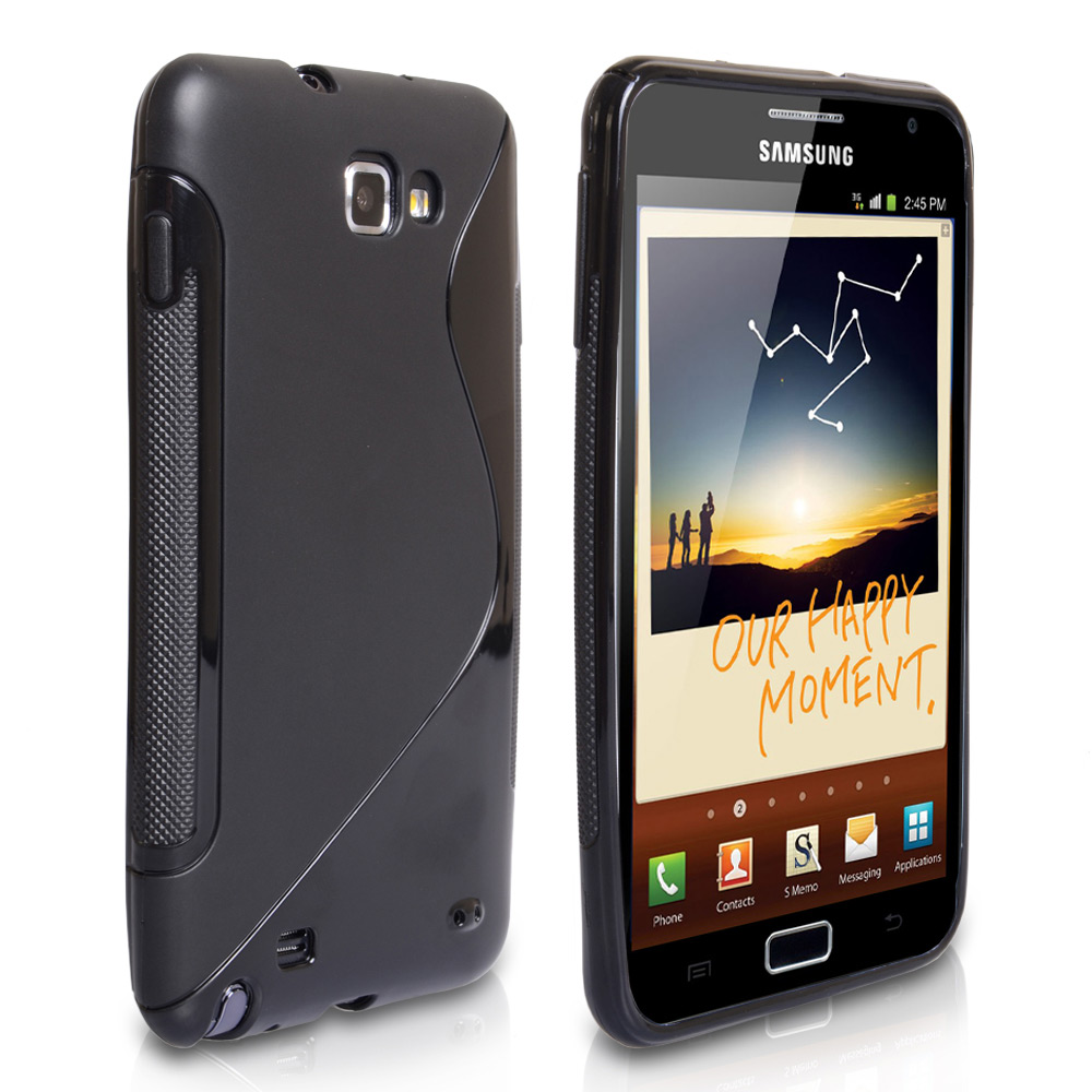 CaseFlex Samsung Galaxy Note S-Line Gel Case - Black