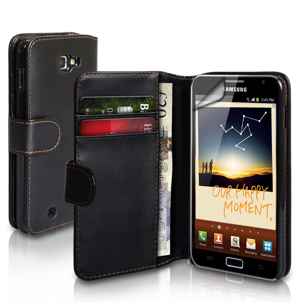 YouSave Samsung Galaxy Note Leather Effect Wallet Case - Black