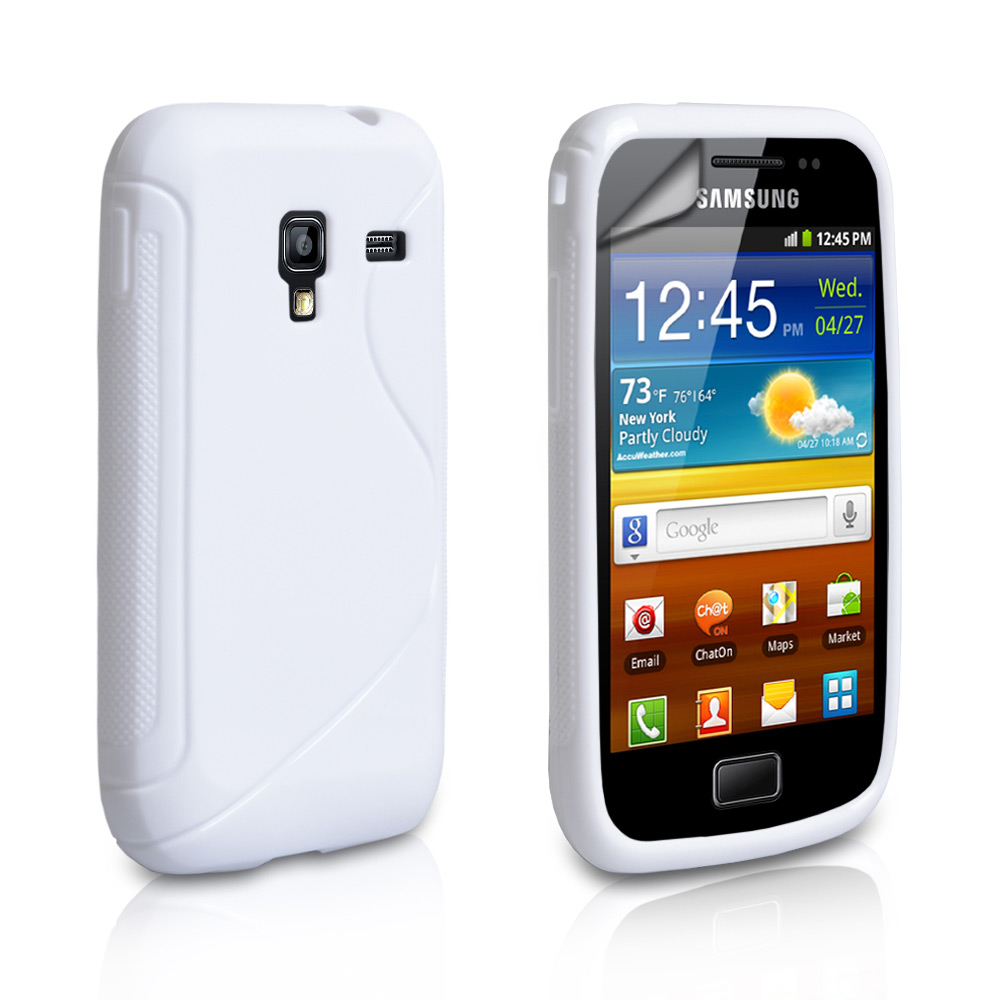 Caseflex Samsung Galaxy Ace Plus S-Line Gel Case - White