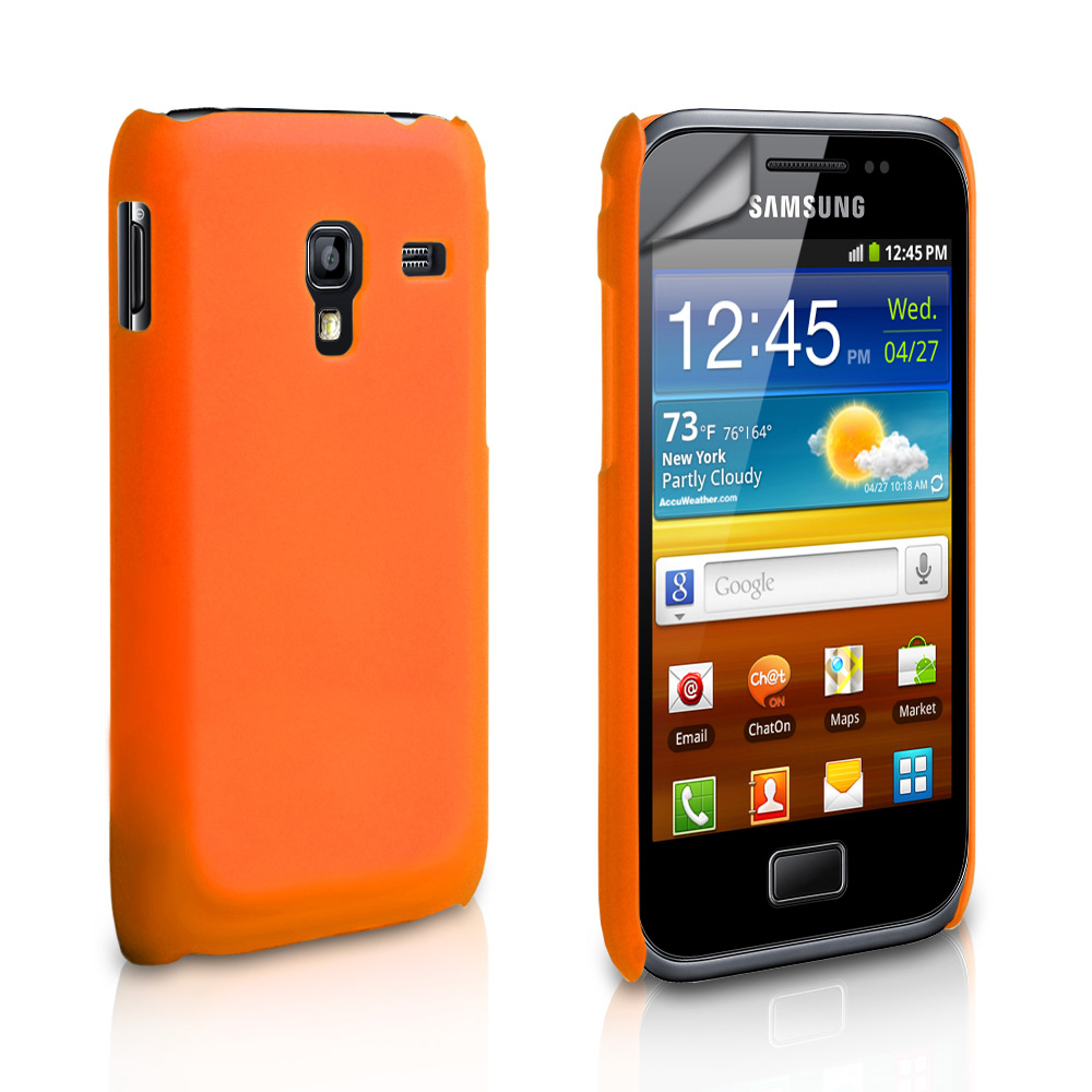 YouSave Samsung Galaxy Ace Plus Hard Back Hybrid Case - Orange