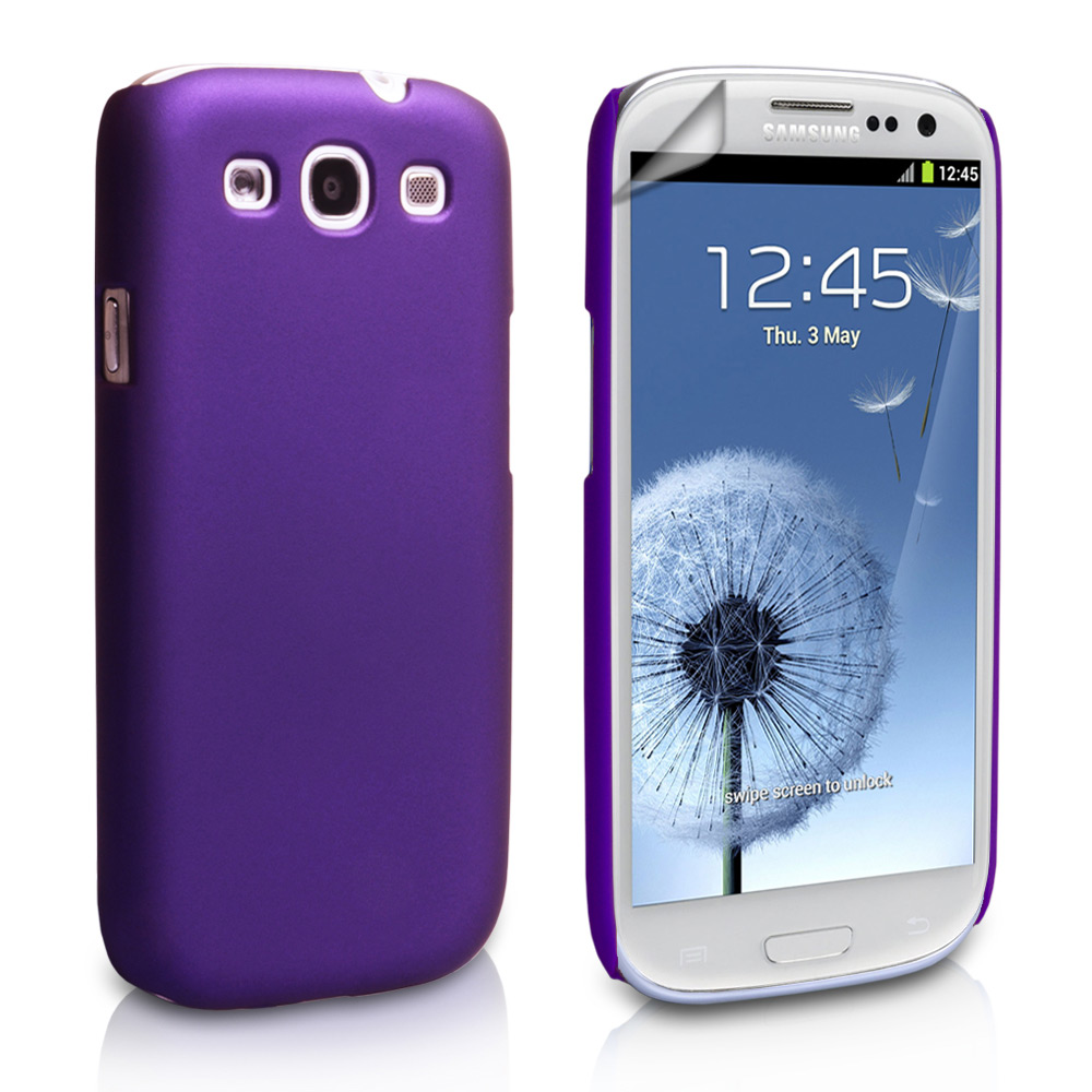 YouSave Accessories Samsung Galaxy S3 Hard Hybrid Case - Purple