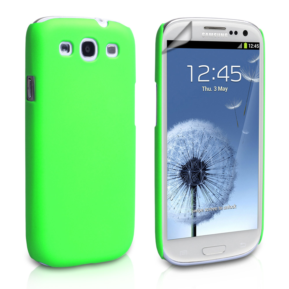 YouSave Accessories Samsung Galaxy S3 Hard Hybrid Case - Green
