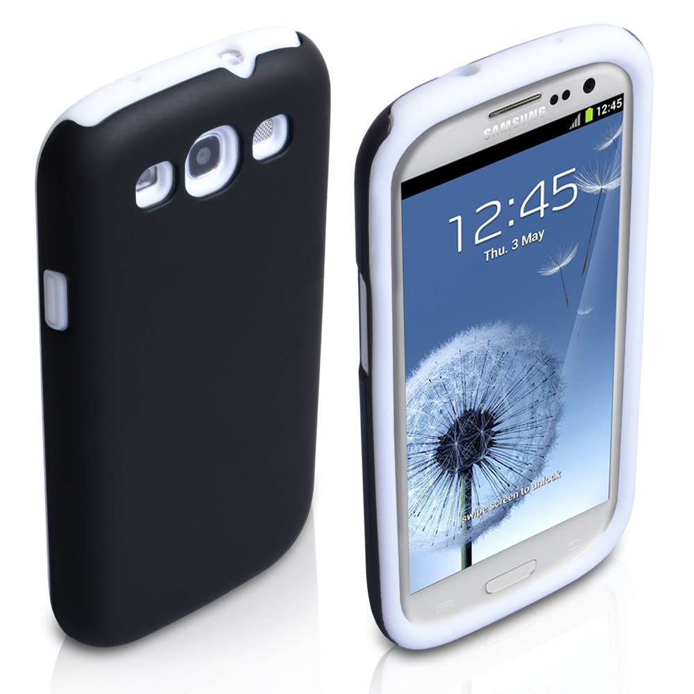 YouSave Accessories Samsung Galaxy S3 Dual Combo Case - Black/White