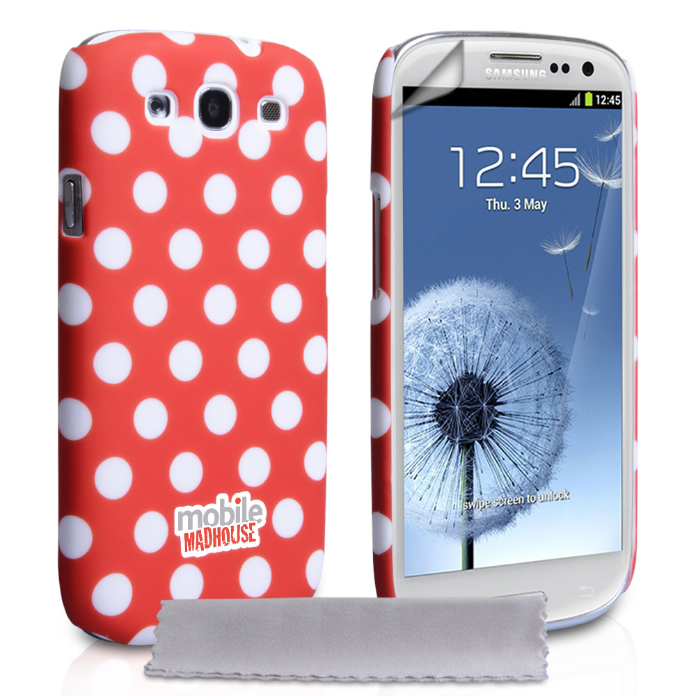 YouSave Accessories Samsung Galaxy S3 Red Hard Polka Dot Case