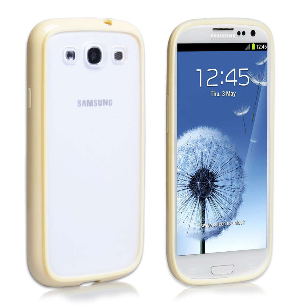 YouSave Accessories Samsung Galaxy S3 Combo Gel Case - Yellow-Clear