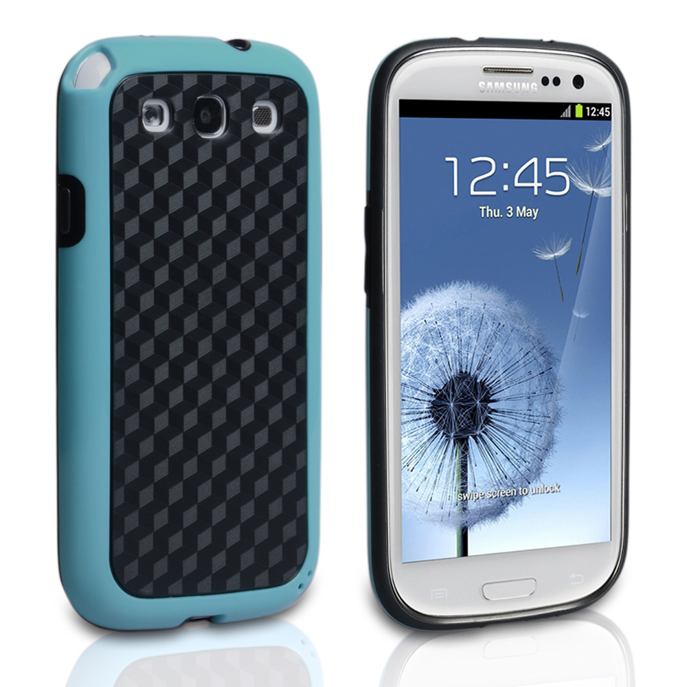 YouSave Samsung Galaxy S3 Combo Carbon Hybrid IMD Case - Blue